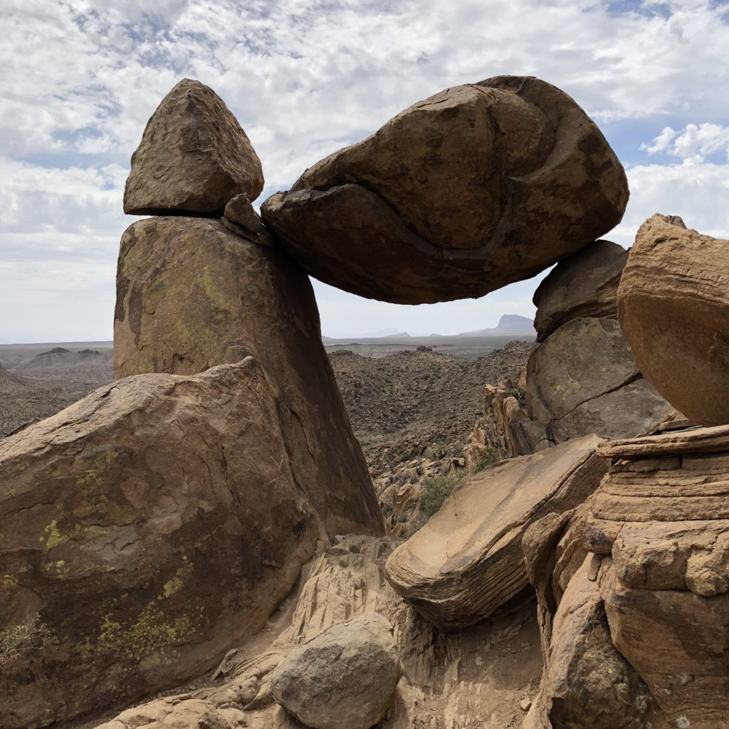 Reverse view of Balanced Rocks in Big Bend National Park