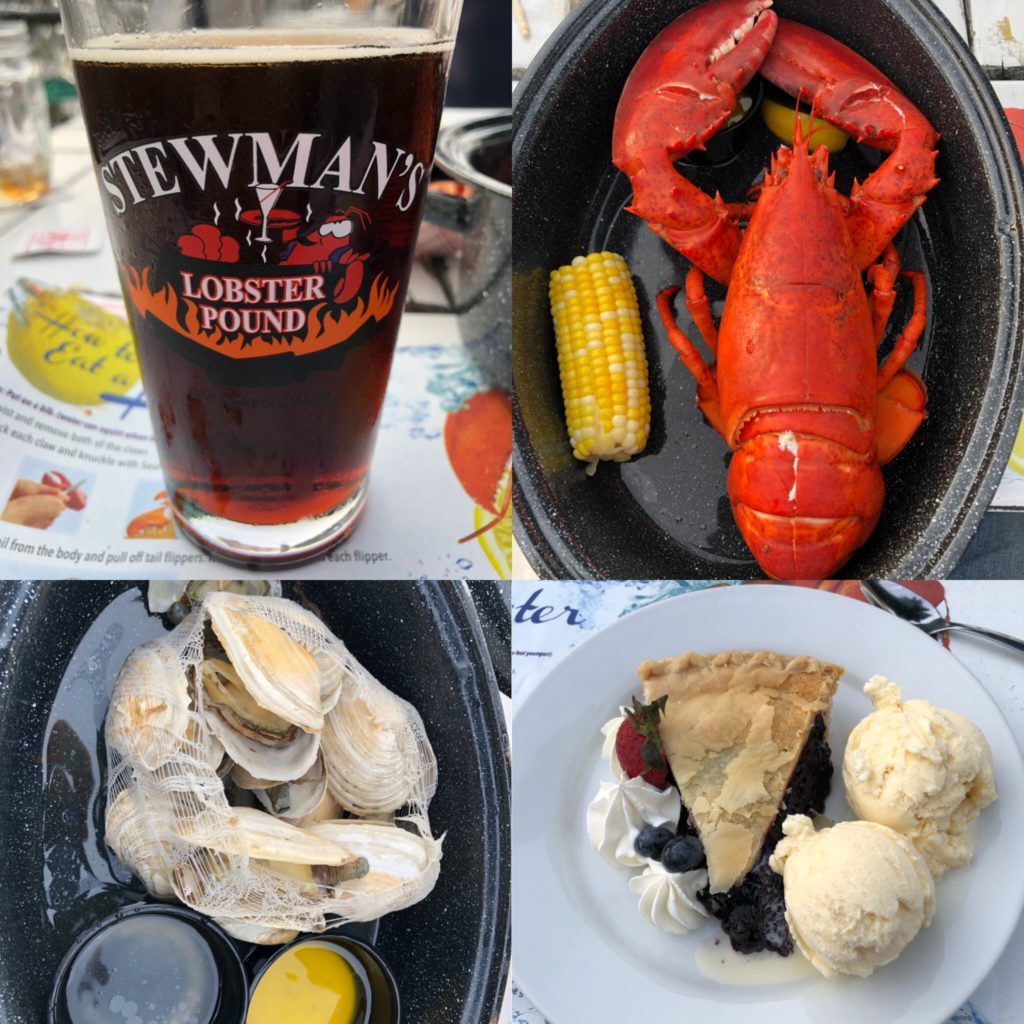 Pretty much the perfect dinner at Stewman's Lobster Pound in Bar Harbor, Maine