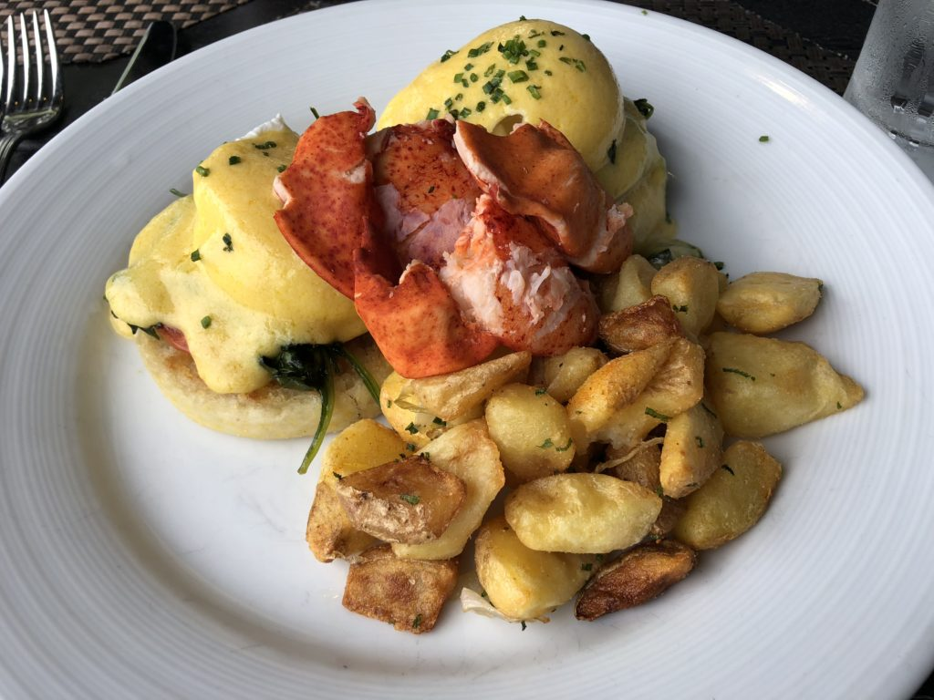 Lobster Benedict at Paddy's in Bar Harbor, Maine