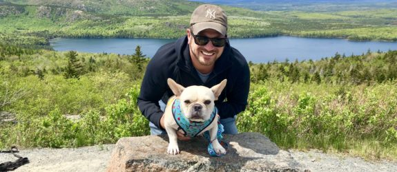 I travel because, Hector and Dad in Acadia National Park