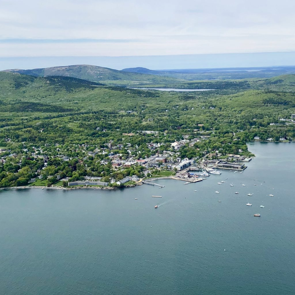 Bar Harbor, Maine from the air