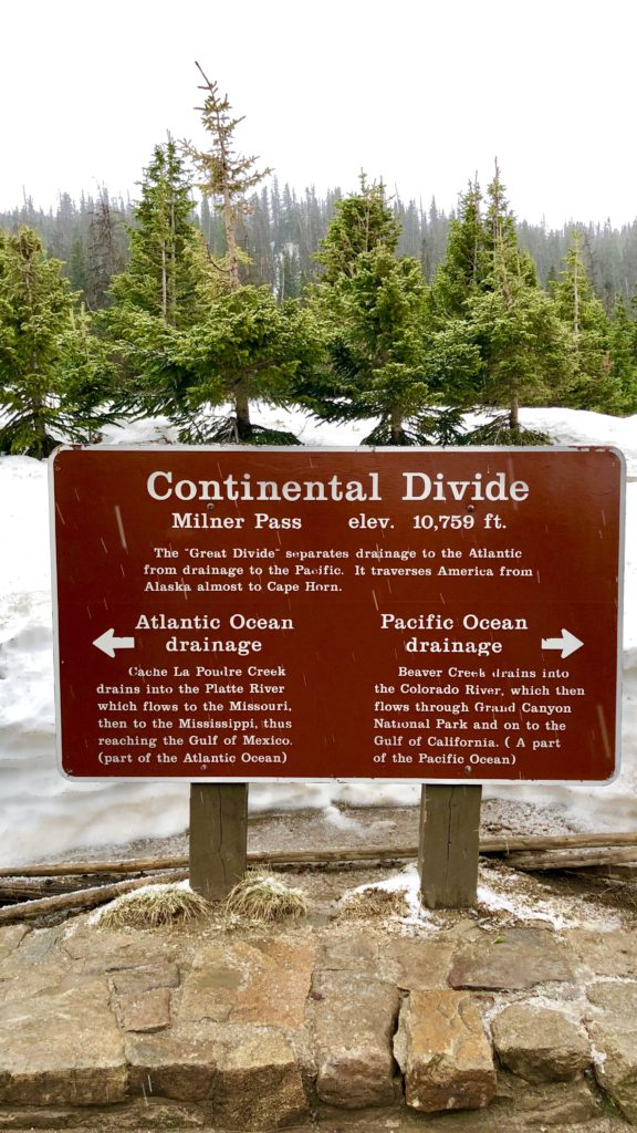 The Continental Divide in Rocky Mountain National Park