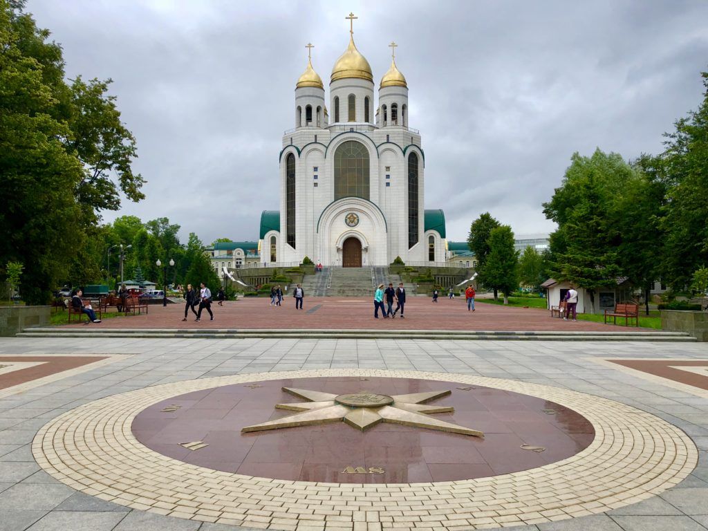 Cool church in the main square of Kaliningrad
