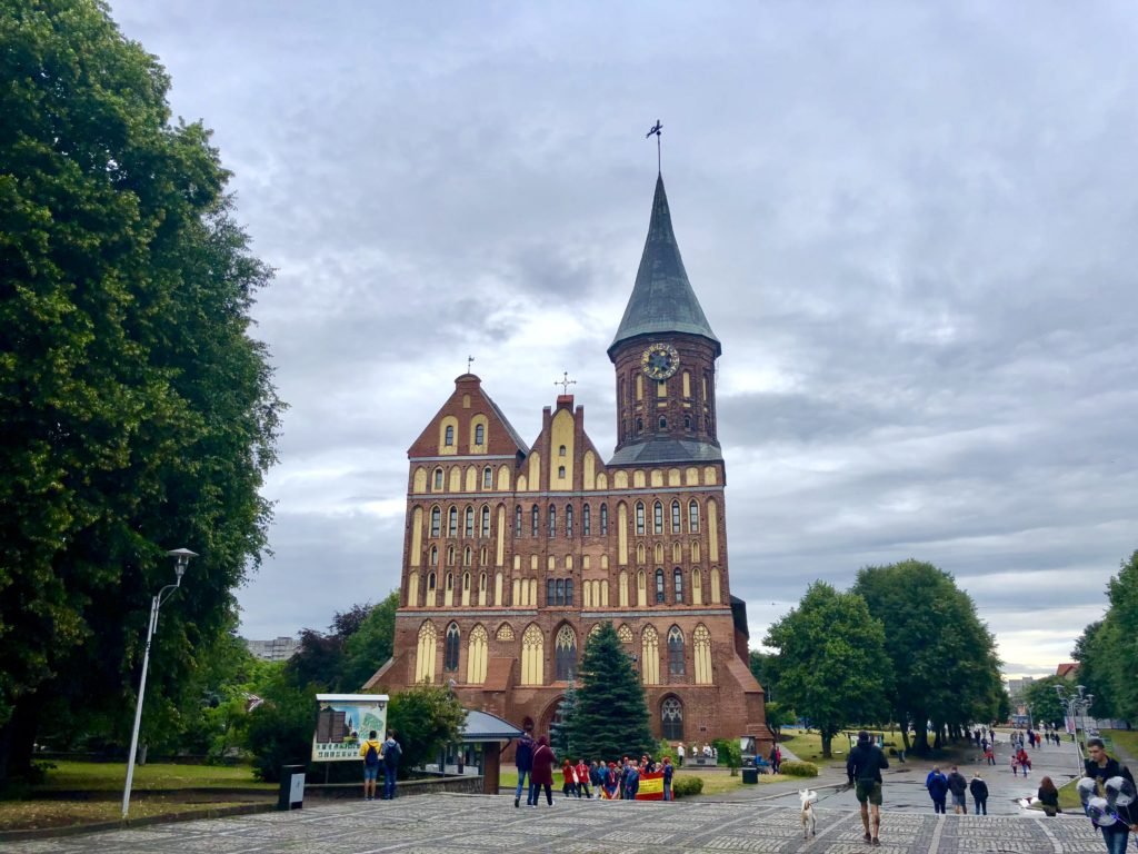 Some German architecture on the island in the middle of Kaliningrad