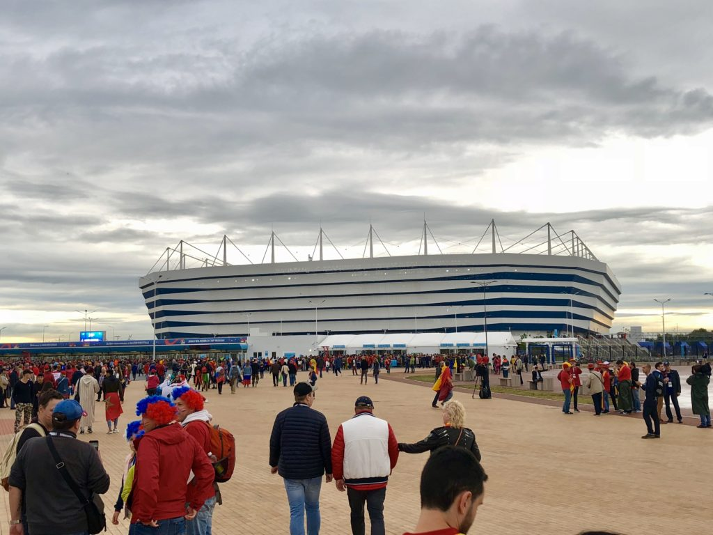 Kaliningrad Stadium was built for the World Cup and is gorgeous