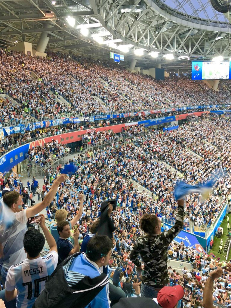 Argentina fans erupt when they score a late winner
