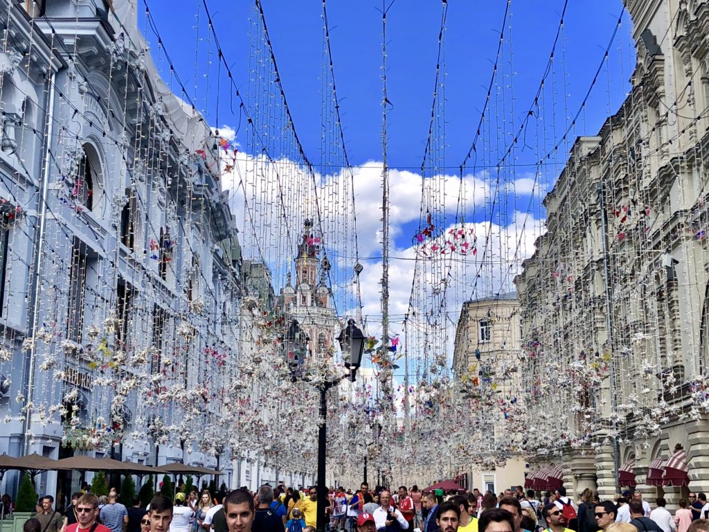 Moscow streets were decked out for the World Cup