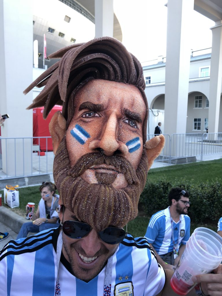 Argentine fan with a Messi hat was amazing