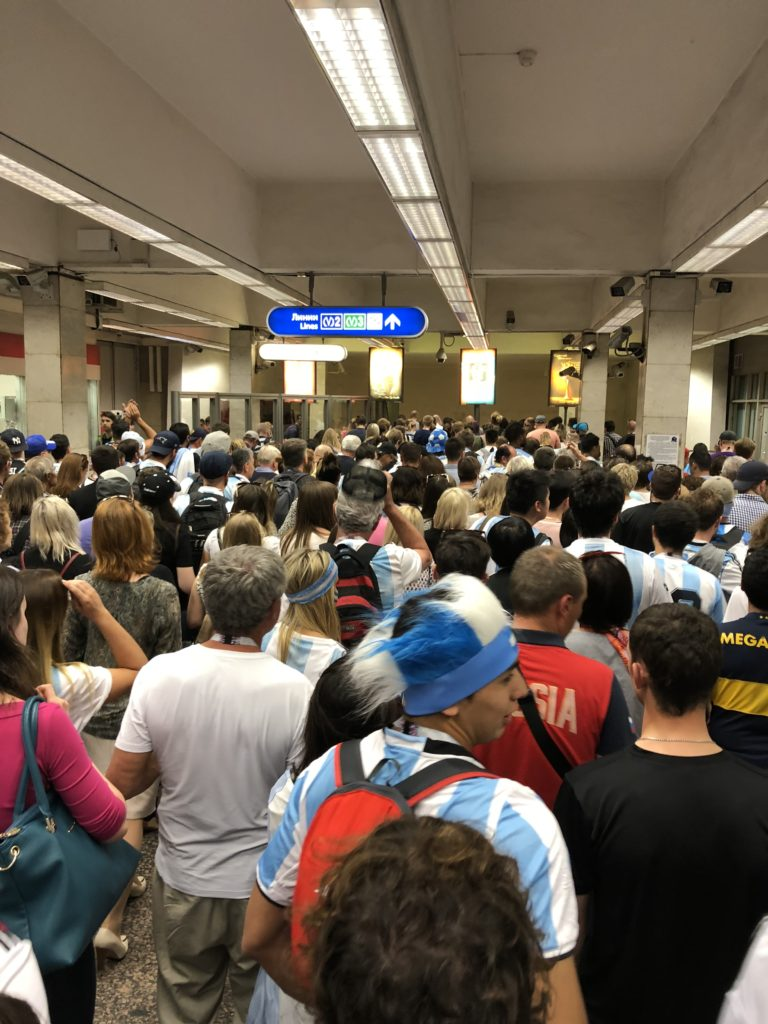 Argentine fans ruled the metro