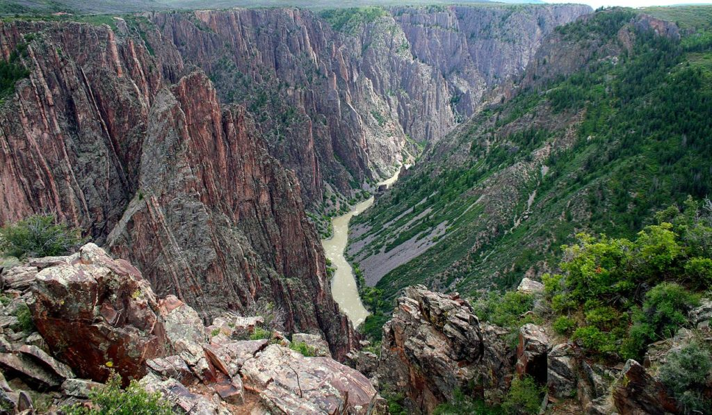 The view inside Black Canyon of the Gunnison National Park