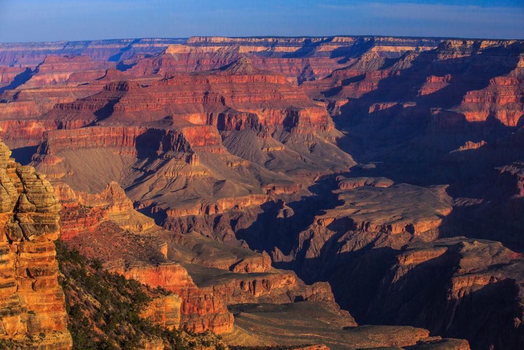 South rim in Grand Canyon National Park