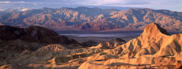 Solid view over Death Valley National Park