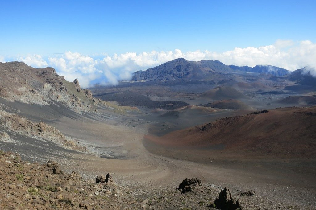 The rim view atop Haleakala National Park