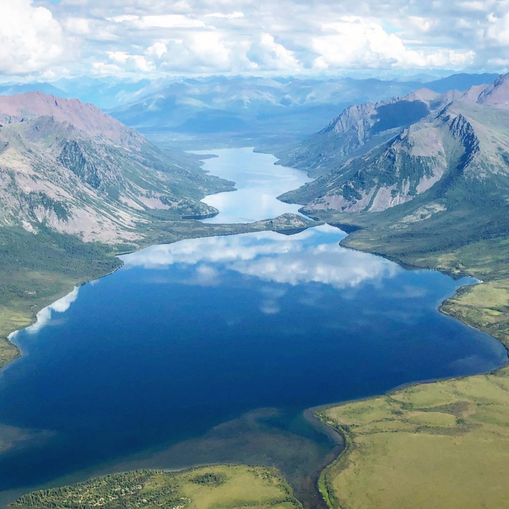 The stunning aerial view of Gates of the Arctic National Park