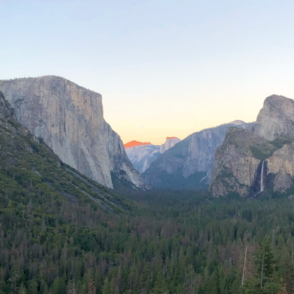Half Dome from Tunnel View at sunset in Yosemite National Park, All 60 US National Parks Ranked