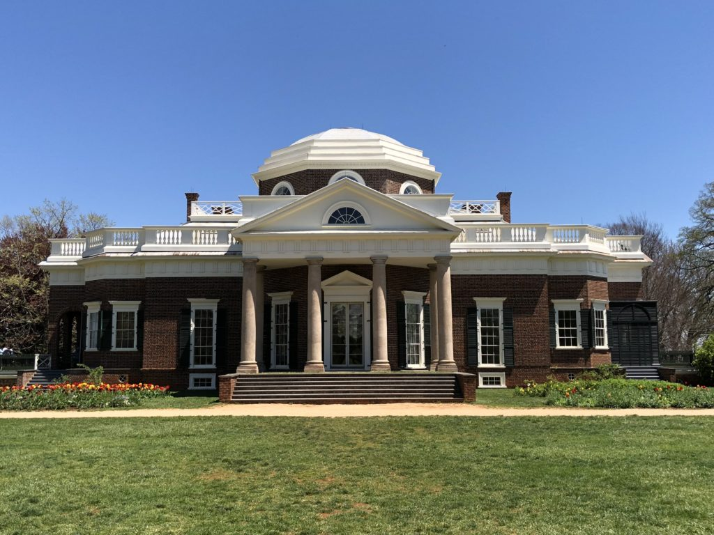 Thomas Jefferson's Monticello very close to Shenandoah National Park