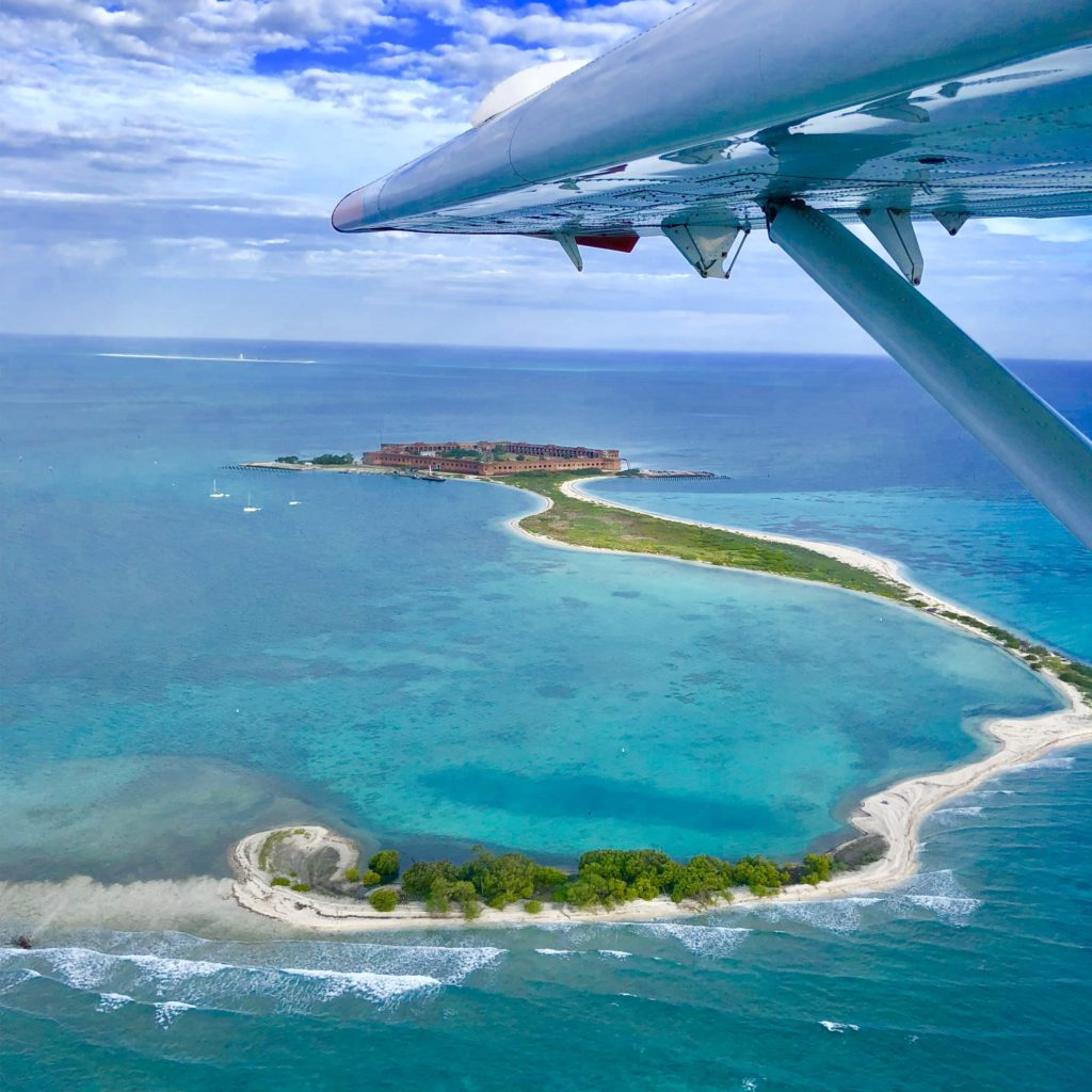 Flying into Dry Tortugas National Park