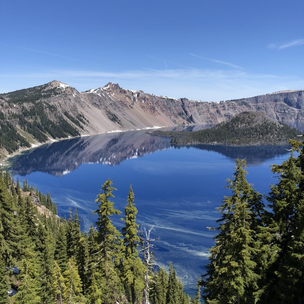 The impeccable Crater Lake high atop Crater Lake National Park