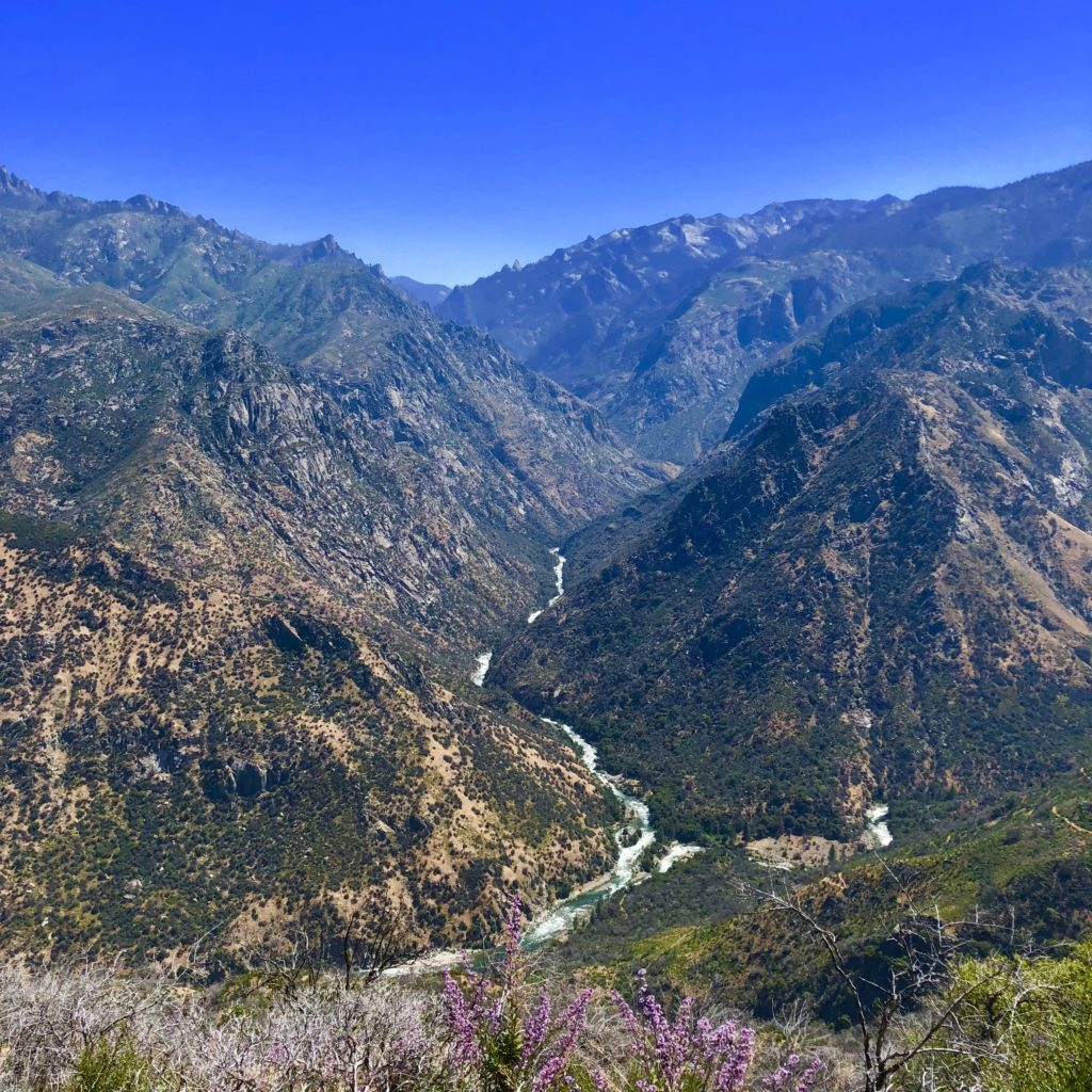 Looking down into Kings Canyon National Park