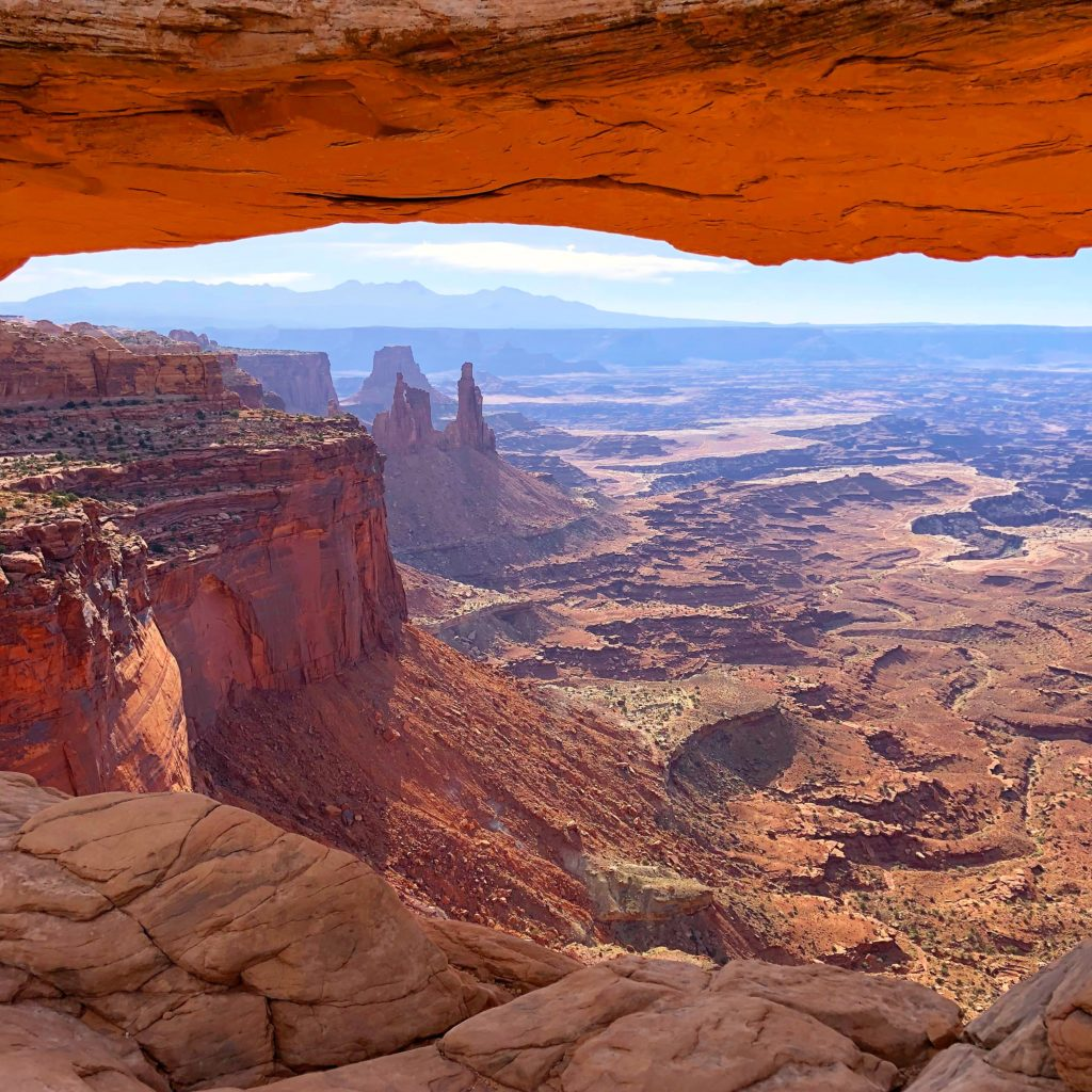 View from Mesa Arch in Canyonlands National Park, All 60 US National Parks Ranked