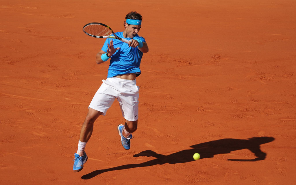 Nadal on clay