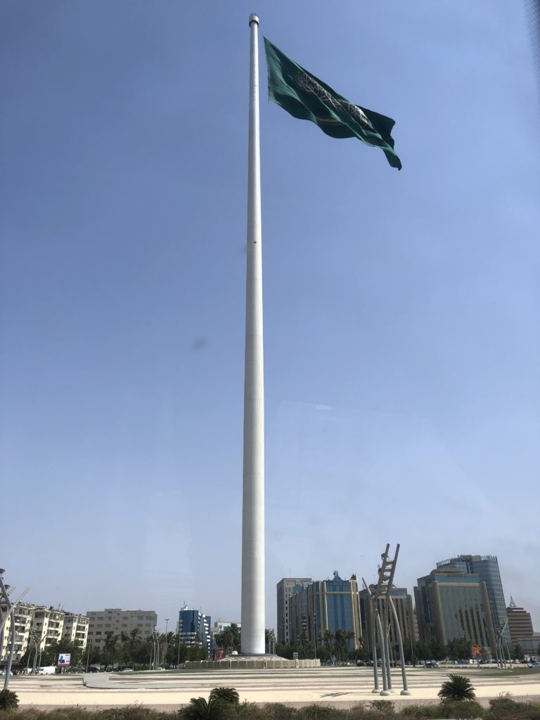 world's largest flagpole in Jeddah