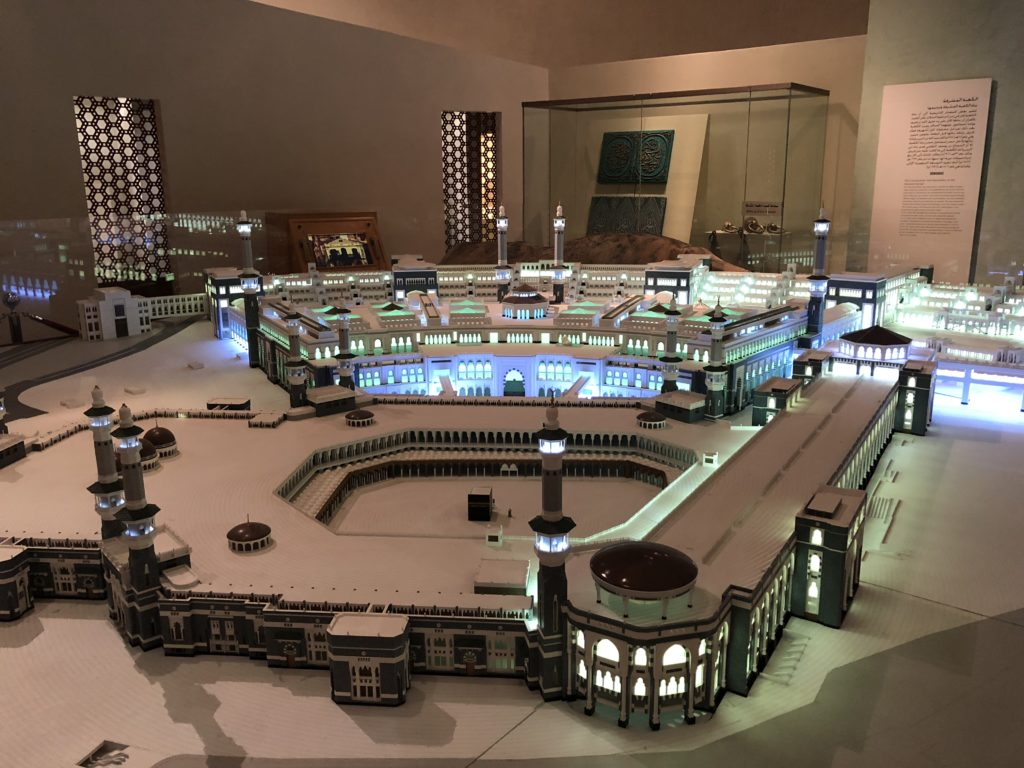 Large scale model of Mecca inside the National Museum in Riyadh