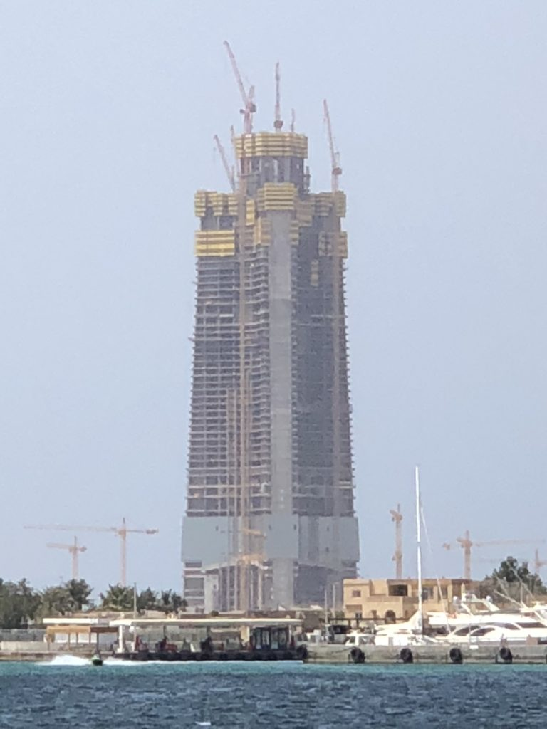 Jeddah Tower, under construction, will be the world's tallest building in 2020