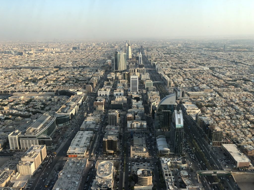The phenomenal view atop the SkyBridge in Kingdom Tower just before sunset, The Saudi Arabia Paradox