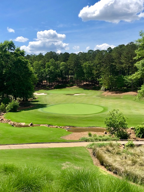 practice green at the Kingdom of Golf, Lake Oconee
