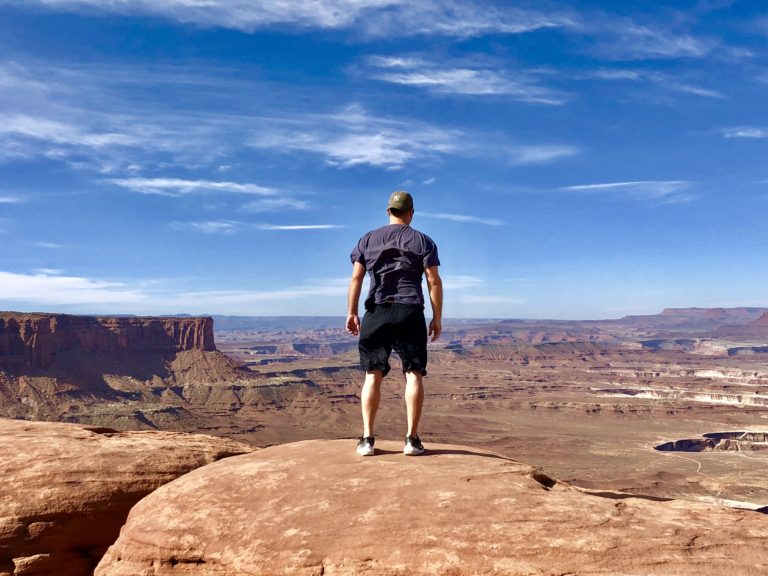 Overlooking windy Canyonlands National Park in Utah, one of Americas best National Parks