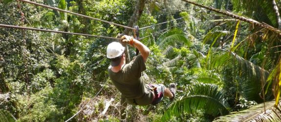 Zipline through the jungle treetops of Southern Belize