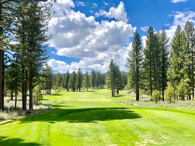 Old Greenwood, first tee, Tahoe Reno Golf Media Tour