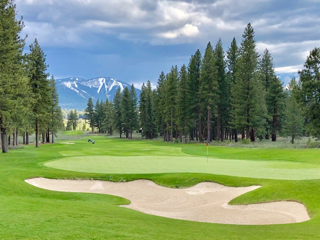 Tahoe Reno Golf Media Tour, 18th at Old Greenwood