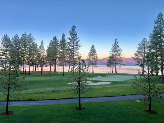 9th green at Edgewood Tahoe
