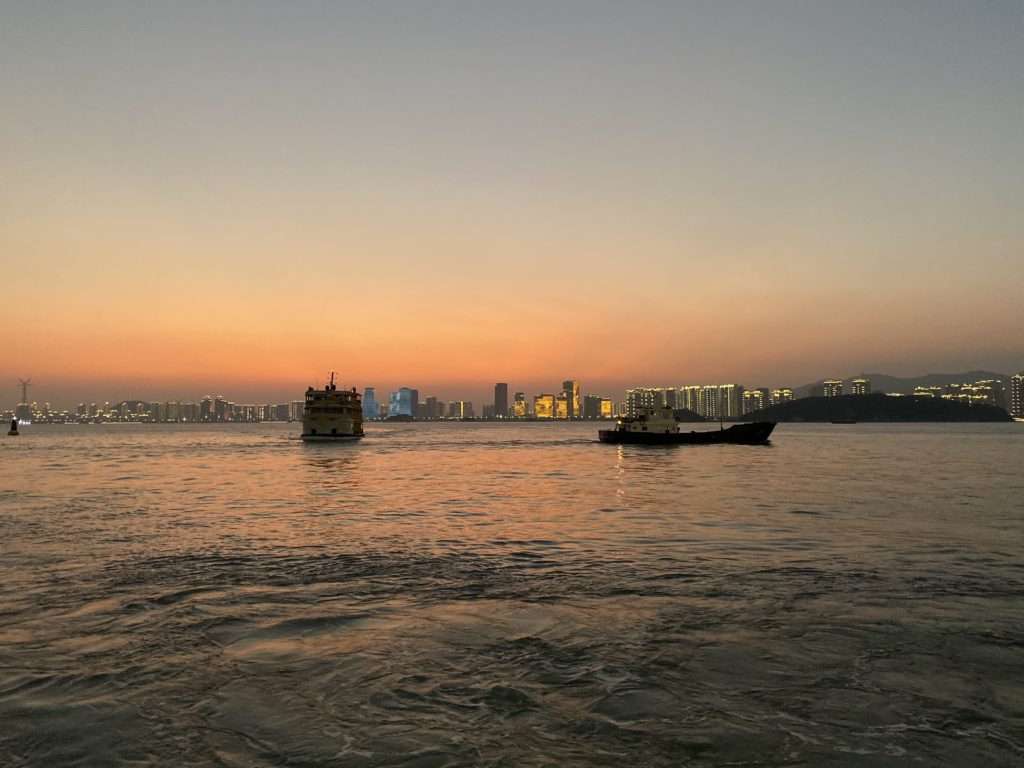 sunset, Xiamen, China
